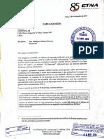 Carta notarial de Baterias Etna a Convoca.pe