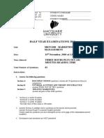 Exam Briefing 2010 Semester 2