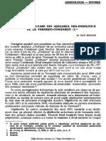Sondajul de Salvare Din Așezarea Neo-Eneolitică de La Vermești-Comănești (I) 1976