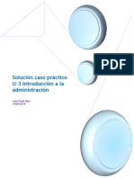 Solucion Caso Practico U3 Introduccion a La Administracion