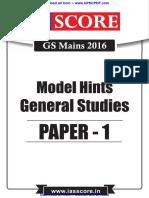 CSE General studies paper 1