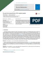 Botler, Jiménez - 2017 - On Path Decompositions of 2k-Regular Graphs
