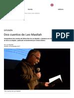 Escaramuza - Dos Cuentos de Leo Maslíah