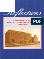 Reflections a History of the Wrightstown High School 1915-1998