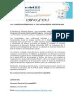 Convocatoria Congreso Universidad 2020.docx