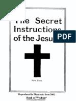 Secret Instructions of the Society of Jesus (Jesuits) (version 1)