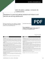 Resistencia a La Presión de Pares y Pareja y Consumo de Tabaco y Alcohol en Adolescentes (2009)