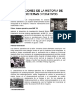 Generaciones de La Historia de Los Sistemas Operativos