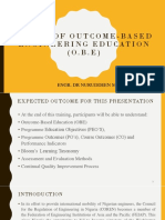 Basics of Outcome-based Engineering Education (Obe)