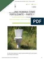 La Orina Humana Como Fertilizante - Parte 1 - Arboretum Foundation
