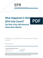 What Happened in Bolivia's 2019 Vote Count?