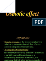 Osmotic Effect
