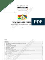Programas de Estudio Nivel Inicial 2019