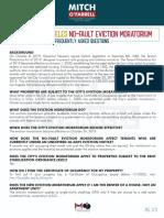 Eviction Moratorium FAQ