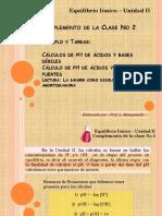 Equilibrio Ionico - Clase No 2 - Complemento - Lisbeth Manganiello