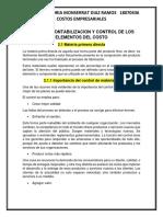 UNIDAD 2. CONTABILIZACIÓN Y CONTROL DE LOS ELEMENTOS DEL COSTO