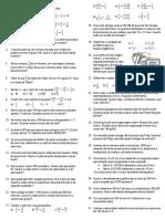 Atividades sobre equações do 1° grau - 7° ano