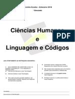 ° Simulado Abril 2018 (Ciências Humanas Linguagens e Codigos)