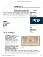 Obrigação (Economia) – Wikipédia, A Enciclopédia Livre