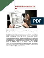 PJ publica conclusiones plenarias en materia penal