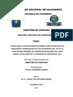 tesis comunicativa