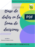Base de Datos y La Toma de Desiciones