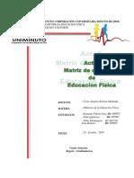 Act. 2 - Matriz de Clase de Ed. Física