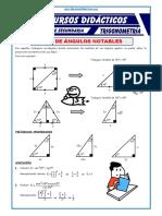 Razones Trigonométricas de Ángulos Notables Para Quinto de Secundaria