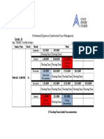 Timetable of CPM Class (1)651