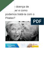 Doença de Alzheimer e Pilates