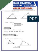 Semejanza de Triangulos Para Cuarto de Secundaria