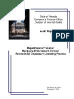 Dept of Taxation Marijuana Division Audit