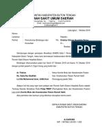 Surat Permohonan Bimbingan Ke Siloam