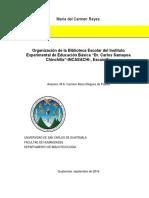planos del instituto experimental, Escuintla.