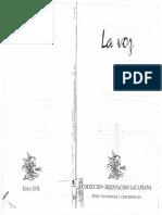 Jacques Lacan y La Voz. Jacques-Alain Miller