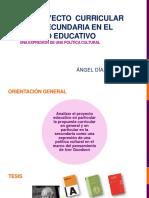 El proyecto curricular en secundaria en el Modelo Educativo