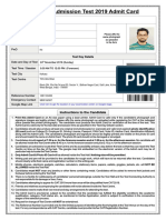 Candidate Hall Ticket