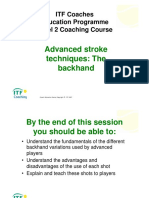 ITF Coaches_Level 2 Backhand