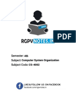 Computer System Organization - Unit 1 - Www.rgpvnotes.in