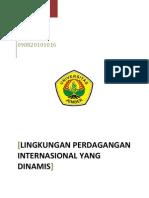 Lingkungan Perdagangan Internasional Yang Dinamis