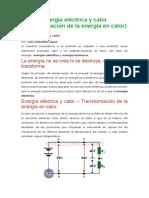 ENERGÍA ELÉCTRICA Y CALOR