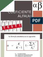 coeficiente alfa