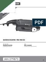 Parkside PBS 900 B2 Belt Sander