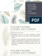 NOLI ME TANGERE, CONTEXT AND CONTENT.pptx