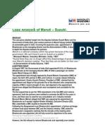 Case Analysis of Maruti