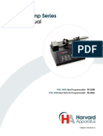 Harvard Apparatus, PHD 4400 Syringe Pump User Manual
