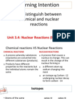 3.4 Nuclear Reactions YEAR 9