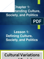 Chapter 1 Understanding Culture, Society, And Politics (Gender)