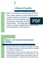 Building a House of Quality