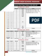 Pairing Scheme Final Paper Pattern 9th 2019-20